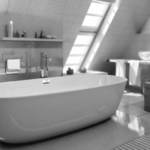 Amenager salle de bain sous pente salle de bain id es for Amenagement salle de bain en sous pente