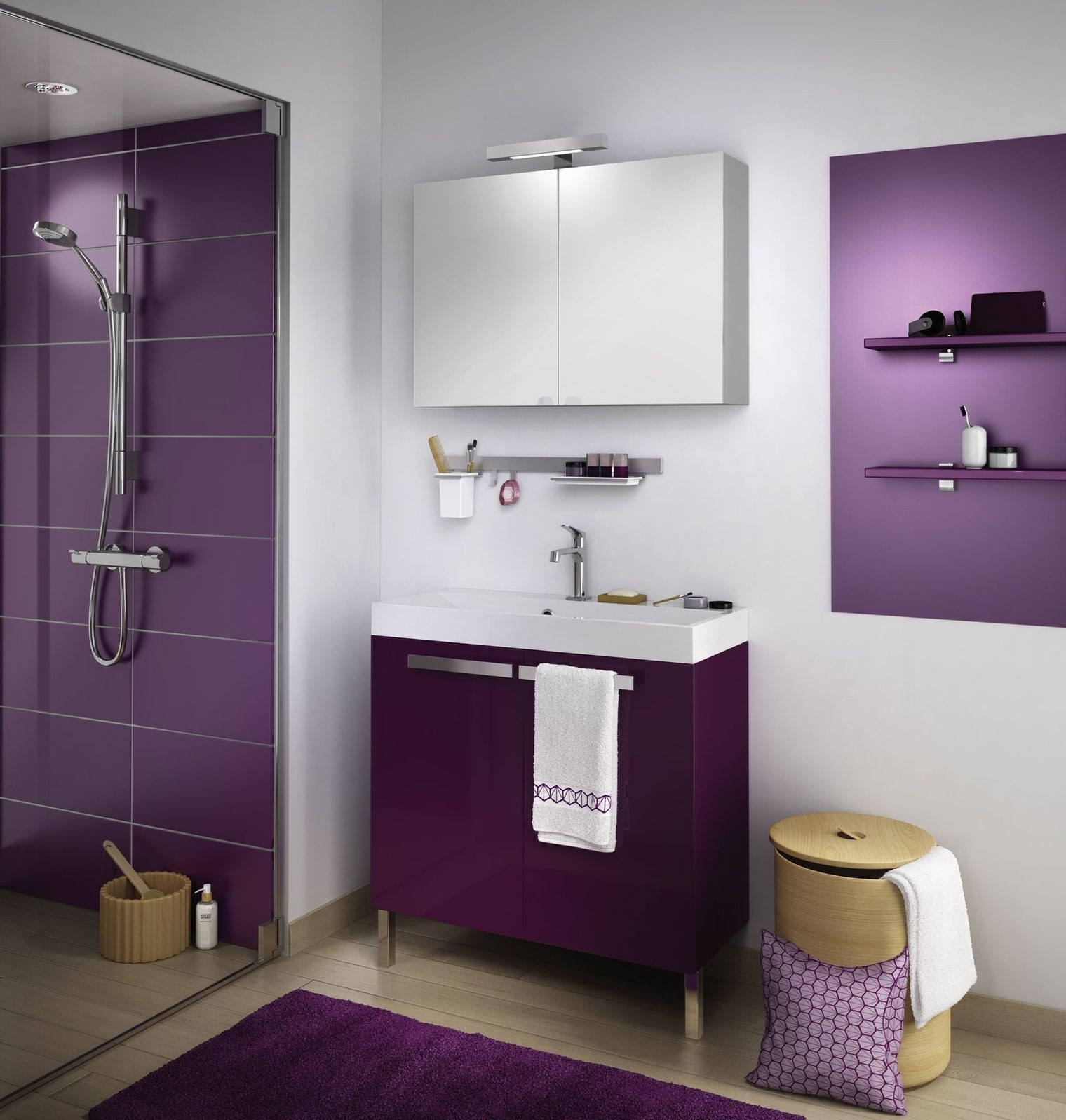 Salle de bain de 4m2 cheap gallery of comment amnager une for Modele salle de bain 4m2