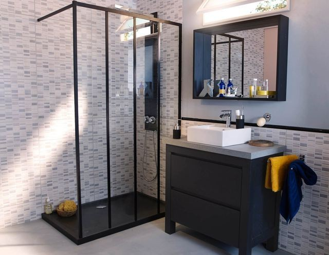 mosaique adhesive pour salle de bain affordable autoadhsif mosaque carreaux de mur autocollant. Black Bedroom Furniture Sets. Home Design Ideas