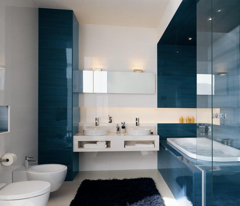 Id es d co salle de bain faience salle de bain id es for Modele de salle de bain faience