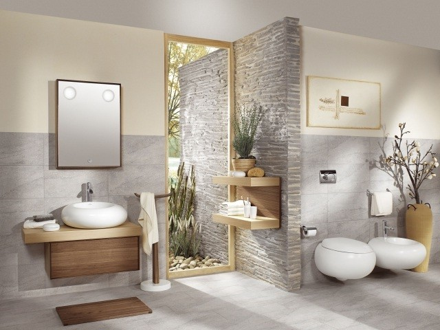 Idees decoration de carrelage architecture d 39 int rieur for Image deco salle de bain