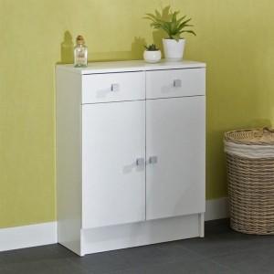 Meuble salle de bain blanc laqu 80 cm salle de bain for Meuble bas petite profondeur