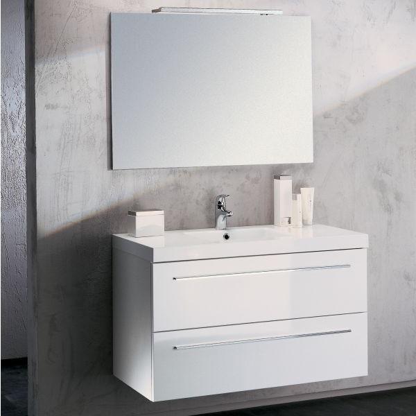 Meuble haut salle de bain blanc laqu salle de bain id es de d coration d - Meuble de salle de bain blanc laque ...