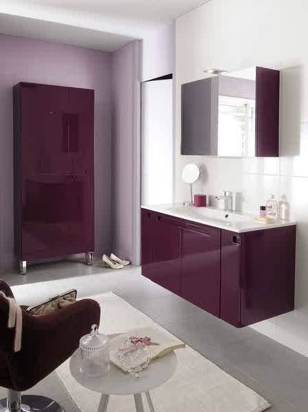 meuble salle de bain aubergine lapeyre salle de bain. Black Bedroom Furniture Sets. Home Design Ideas