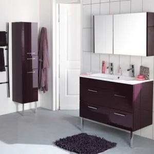 Meuble vasque salle de bain aubergine salle de bain - Meuble salle de bain gris pas cher ...