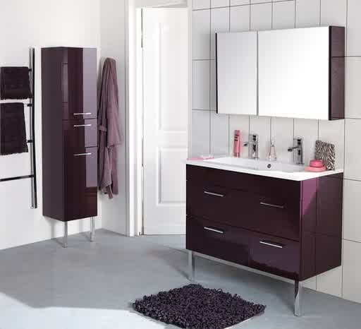 Beautiful Meuble Salle De Bain Aubergine Pictures - Awesome ...