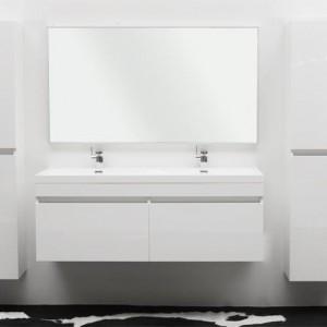 Meuble vasque salle de bain laque noir salle de bain - Meuble de salle de bain blanc laque ...
