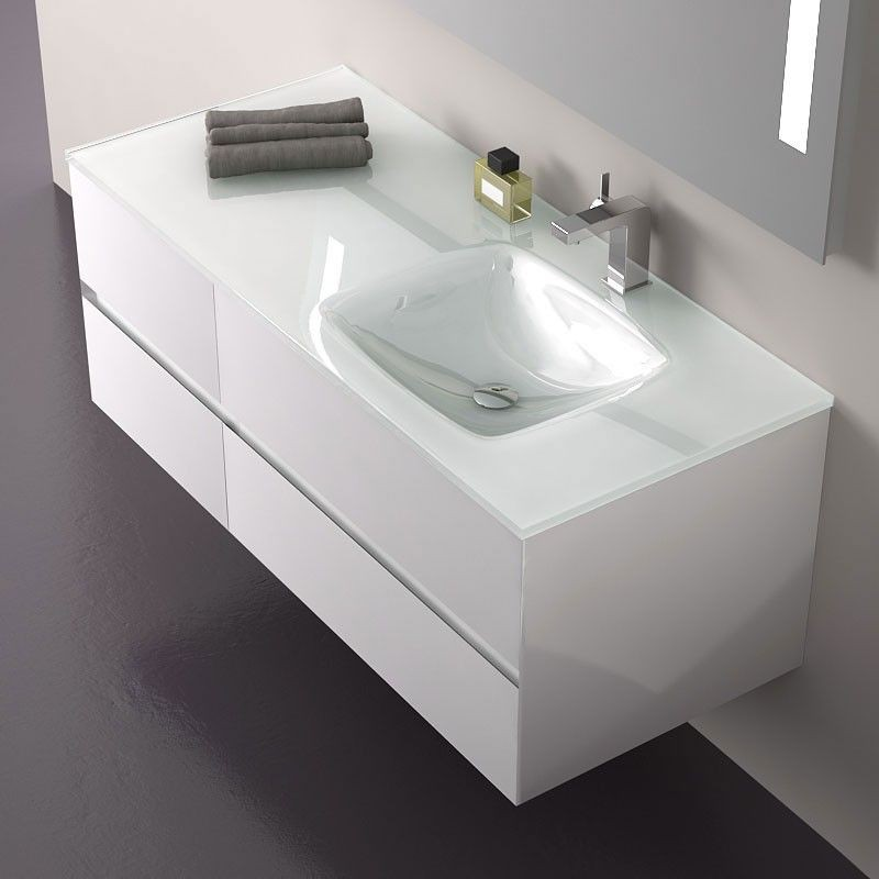 Meuble Salle De Bain Blanc Sans Vasque