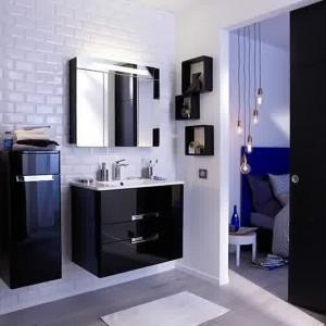 Meuble salle de bain bois exotique pas cher salle de - Meuble bois salle de bain pas cher ...