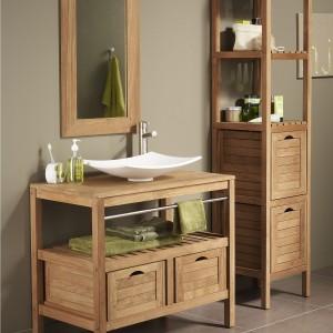 Meuble salle bain bois exotique pas cher salle de bain for Meuble de salle de bain bois exotique