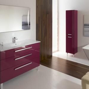 Meuble salle de bain aubergine lapeyre salle de bain - Salle de bain couleur aubergine ...