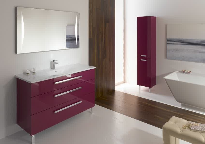 beautiful meuble salle de bain aubergine pictures awesome interior home satellite. Black Bedroom Furniture Sets. Home Design Ideas