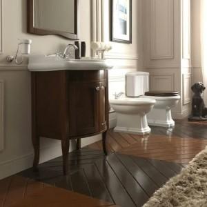 Meuble salle de bain retro chic salle de bain id es de - Meuble salle de bain gris pas cher ...