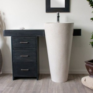 Meuble Salle De Bain Sur Pied Simple Vasque