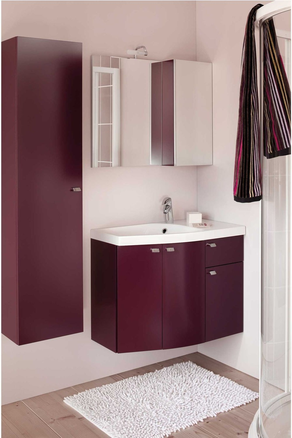 meuble vasque salle de bain aubergine salle de bain. Black Bedroom Furniture Sets. Home Design Ideas