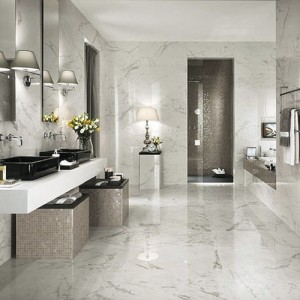 Revetement mural salle de bain adhesif salle de bain - Revetement sur carrelage ...