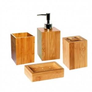 Accessoires salle de bain bambou bois - Accessoire de salle de bain pas cher ...