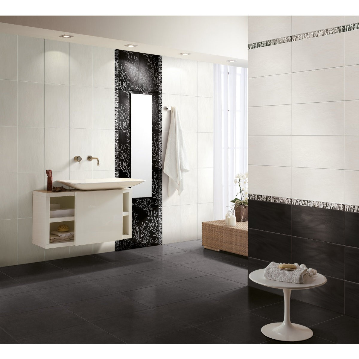 Carrelage mural salle de bain point p salle de bain for Carrelage 01