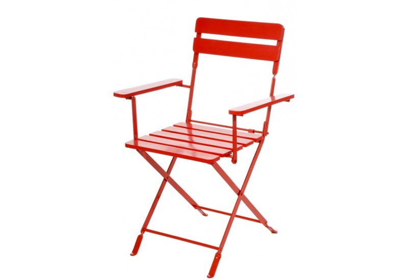 Chaise Bistro Metal Rouge