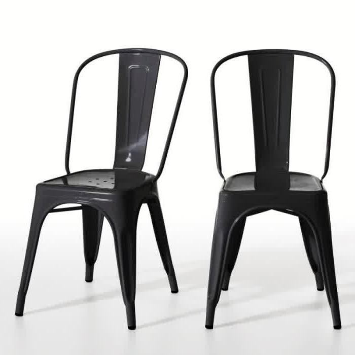 chaise bistrot metal noir chaise id es de d coration de maison wqmlze7n4o. Black Bedroom Furniture Sets. Home Design Ideas