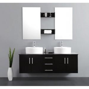 Meuble salle de bain pour vasque poser ikea salle de for Hauteur meuble vasque