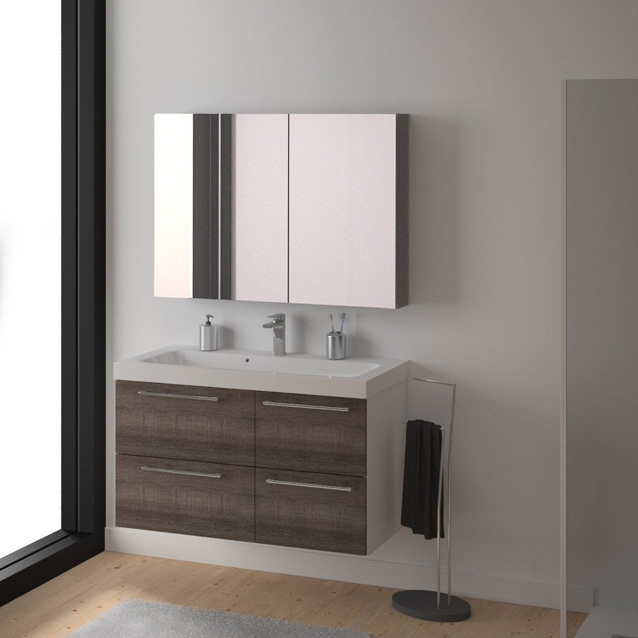armoire de salle de bain leroy merlin valdiz. Black Bedroom Furniture Sets. Home Design Ideas