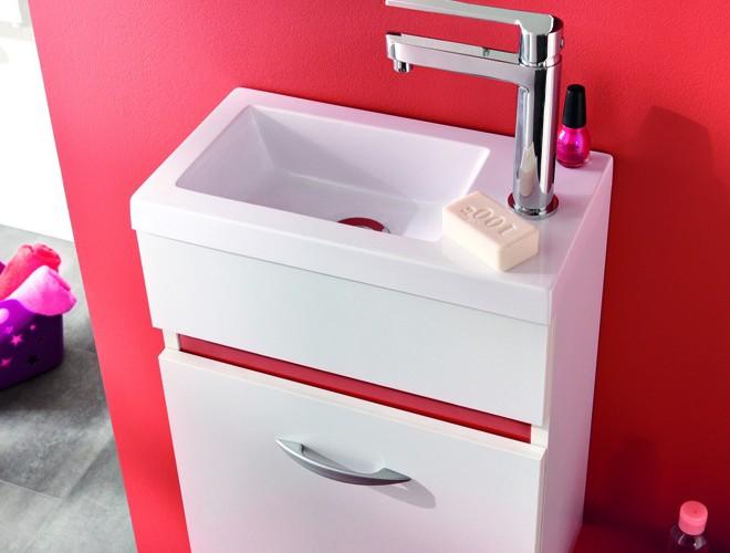 Meuble lavabo pour petite salle de bain salle de bain for Petit lavabo salle de bain