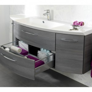 meuble salle de bain arrondi gris salle de bain id es. Black Bedroom Furniture Sets. Home Design Ideas