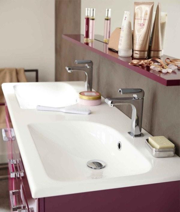 Meuble salle de bain deux vasques leroy merlin salle de for Meuble 2 vasques leroy merlin