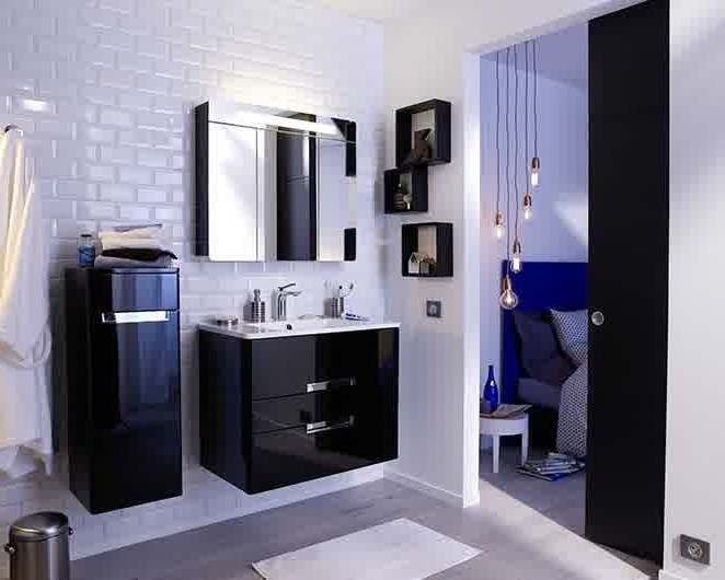 meuble salle de bain gain de place castorama salle de. Black Bedroom Furniture Sets. Home Design Ideas