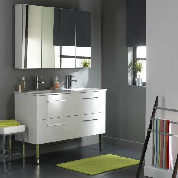 Meuble Salle De Bain Laqué Blanc Ikea