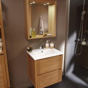Meuble salle de bain bois exotique leroy merlin salle de - Meubles salle de bains leroy merlin ...