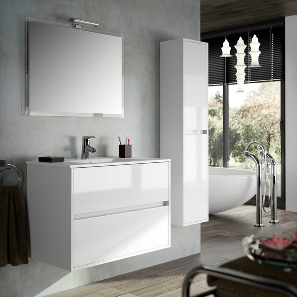meuble de salle de bain blanc pas cher maison design. Black Bedroom Furniture Sets. Home Design Ideas