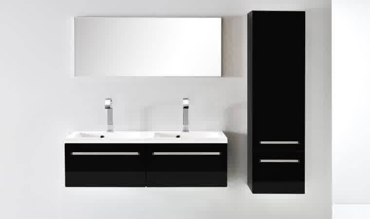 meuble vasque salle de bain laque noir salle de bain. Black Bedroom Furniture Sets. Home Design Ideas