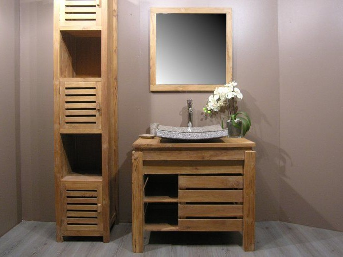 meuble salle de bain bois. Black Bedroom Furniture Sets. Home Design Ideas