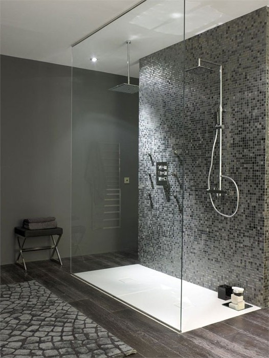 modele de salle de bain avec douche italienne maison. Black Bedroom Furniture Sets. Home Design Ideas