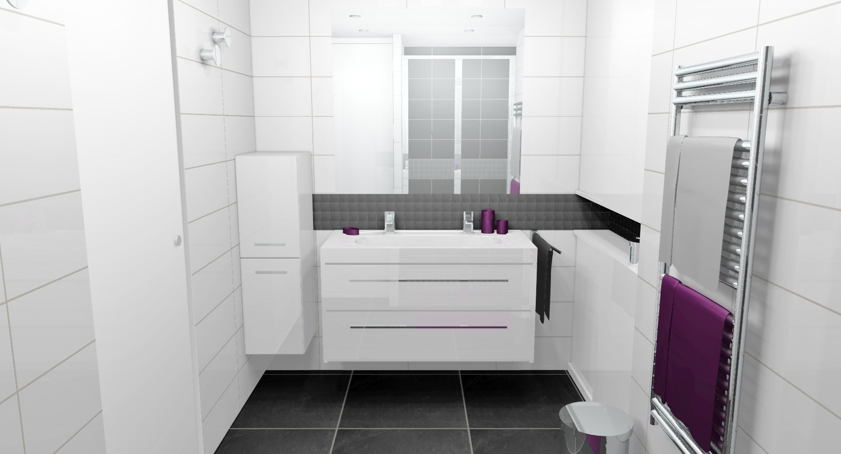 Amenagement salle de bain 7m2 fashion designs for Chambre 7m2 amenagement