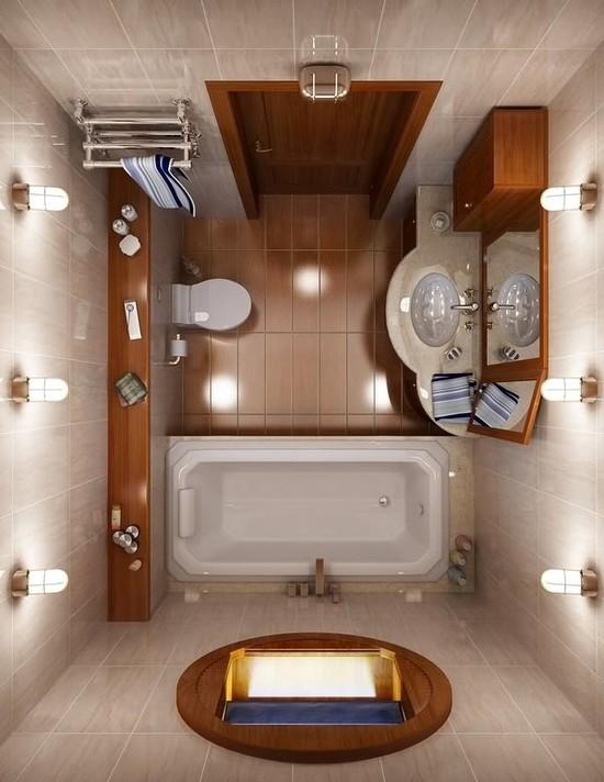 Plan amenagement salle bain petit espace salle de bain - Idee deco salle de bain petit espace ...