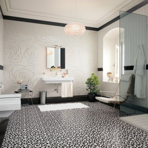 Decoration salle bains retro blanc salle de bain id es for Salle de bain retro