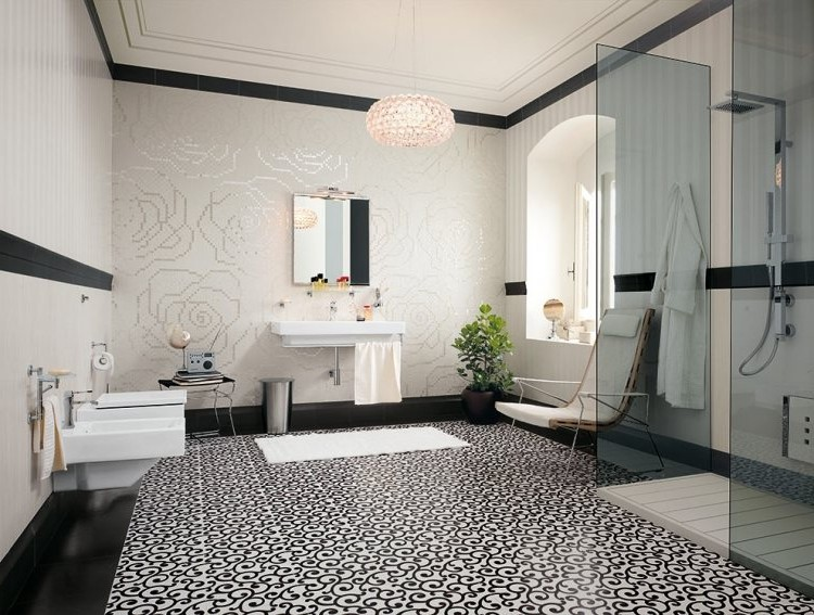 Salle de bain retro carrelage salle de bain id es de for Carrelage floyd point p
