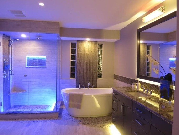 spot led salle de bain couleur salle de bain id es de. Black Bedroom Furniture Sets. Home Design Ideas