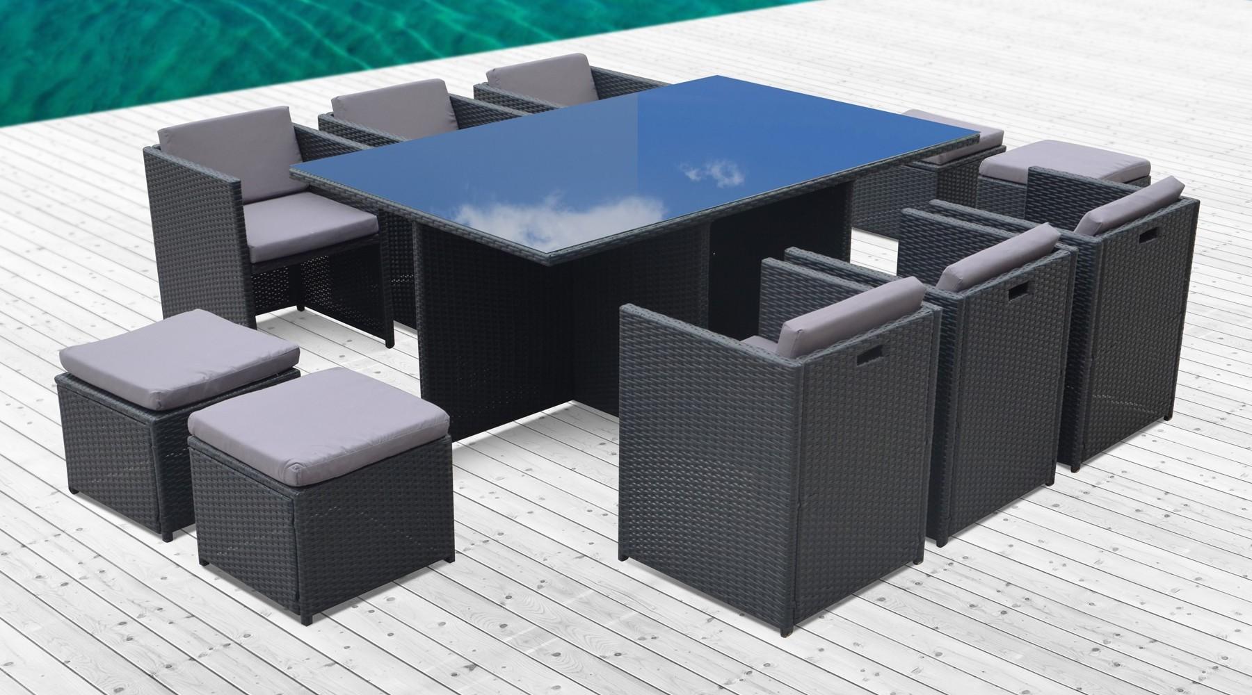 Table Et Chaise De Jardin En Resine Encastrable