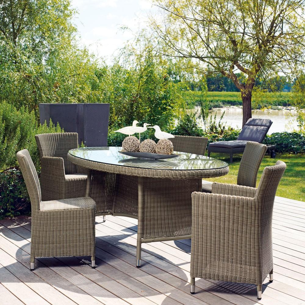 Table Et Chaise De Jardin En Resine Tresse