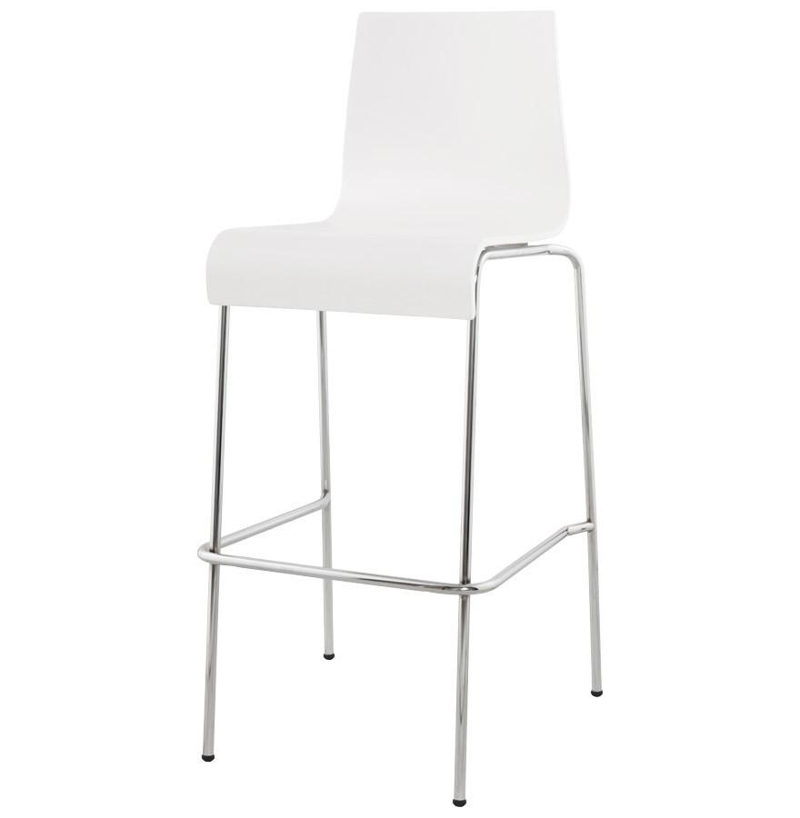 Chaise De Bar Blanche 4 Pieds
