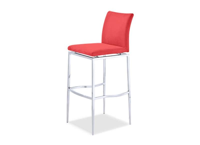 Chaise De Bar Rouge 4 Pieds