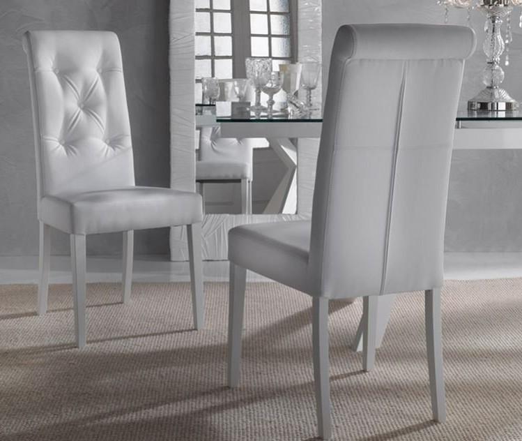 Chaise De Salle A Manger Design Blanche