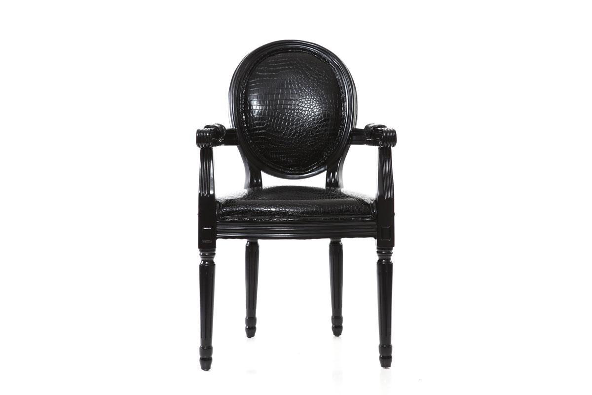 Chaise Medaillon Noir Pas Cher