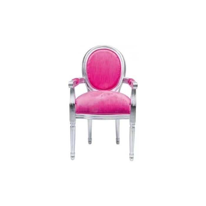 Chaise Medaillon Rose Pas Cher