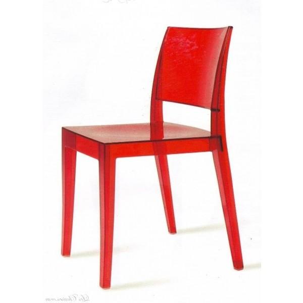 Chaise Plexi Rouge Pas Cher