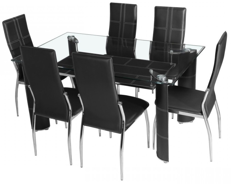ensemble table chaise salle a manger maison design. Black Bedroom Furniture Sets. Home Design Ideas